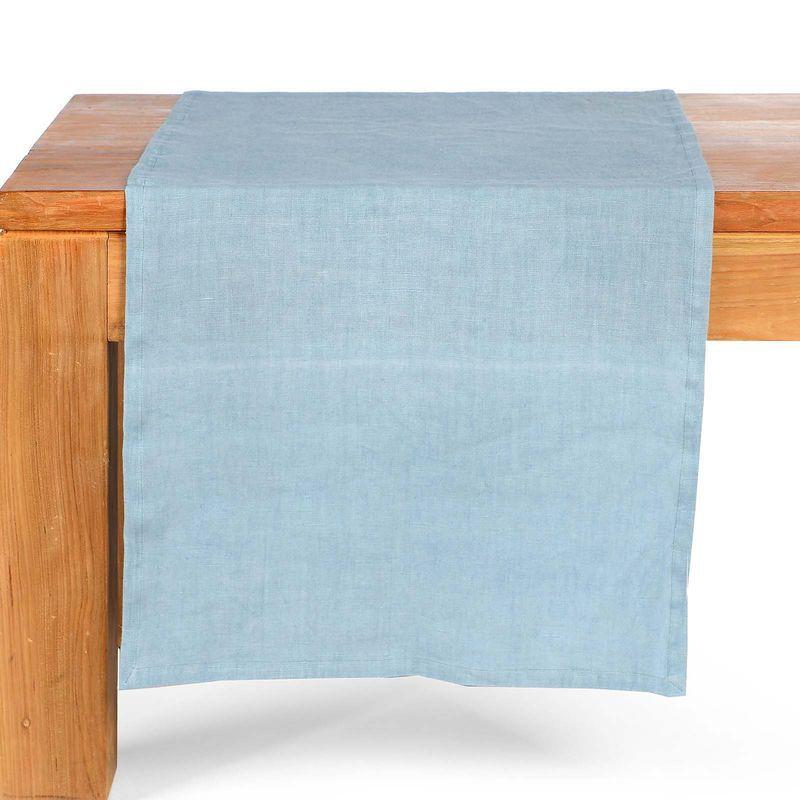 Tischlaufer Blau Ca B 40 X L 150 Cm 100 Leinen Einkaufsliste
