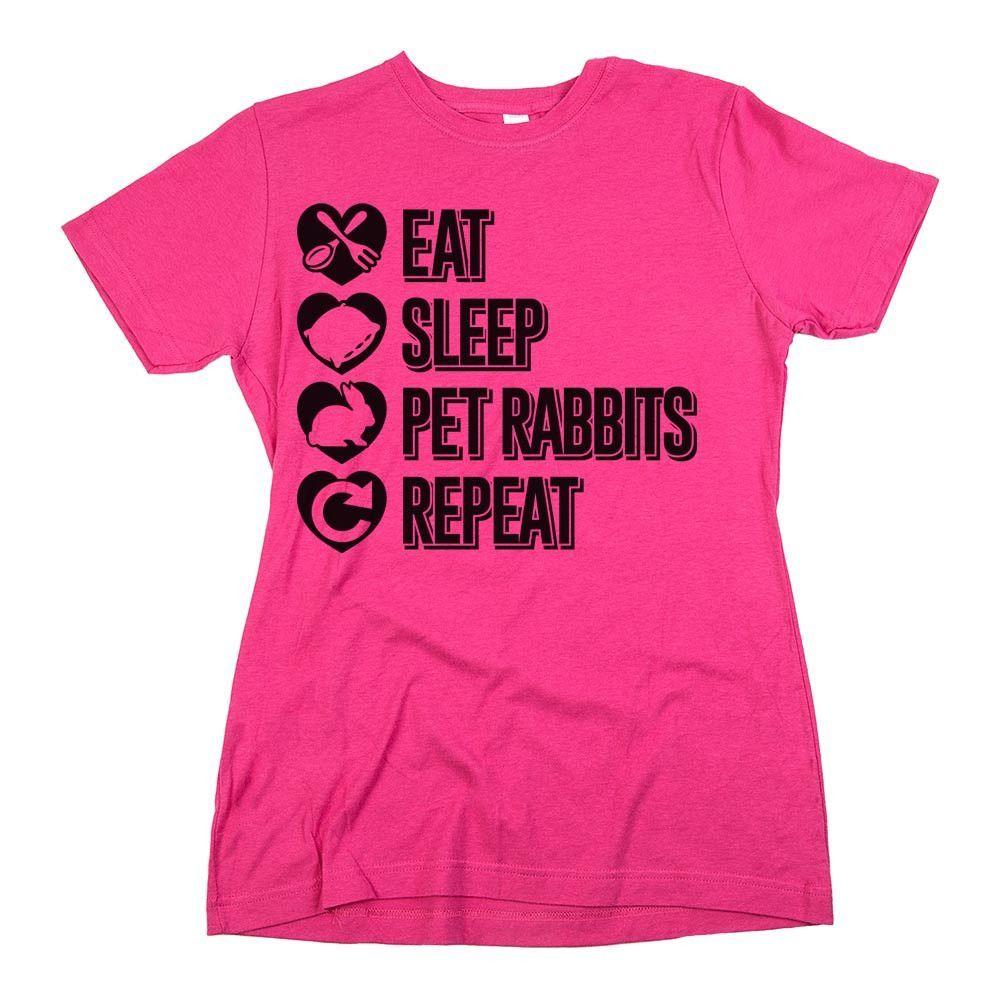 'Eat Sleep Pet Rabbits Repeat'