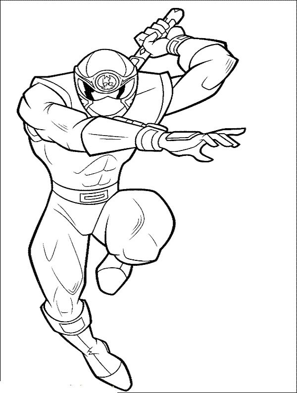 red power ranger coloring pages - photo#18
