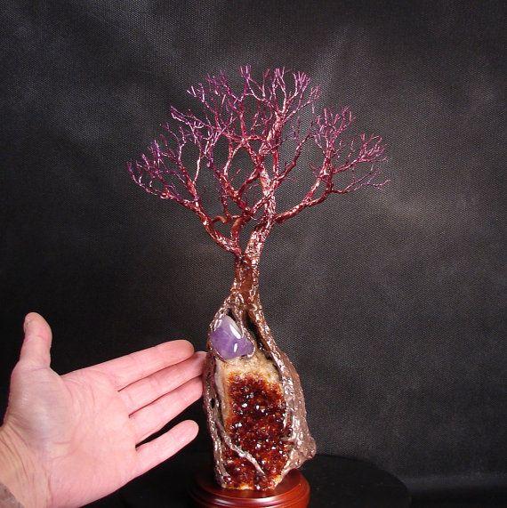 Alambre de alma gemela árbol de la vida escultura por CrowsFeathers