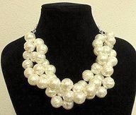 4d7412a9d4e7 Collar de perlas engarzadas con cadena rol de plata de ley