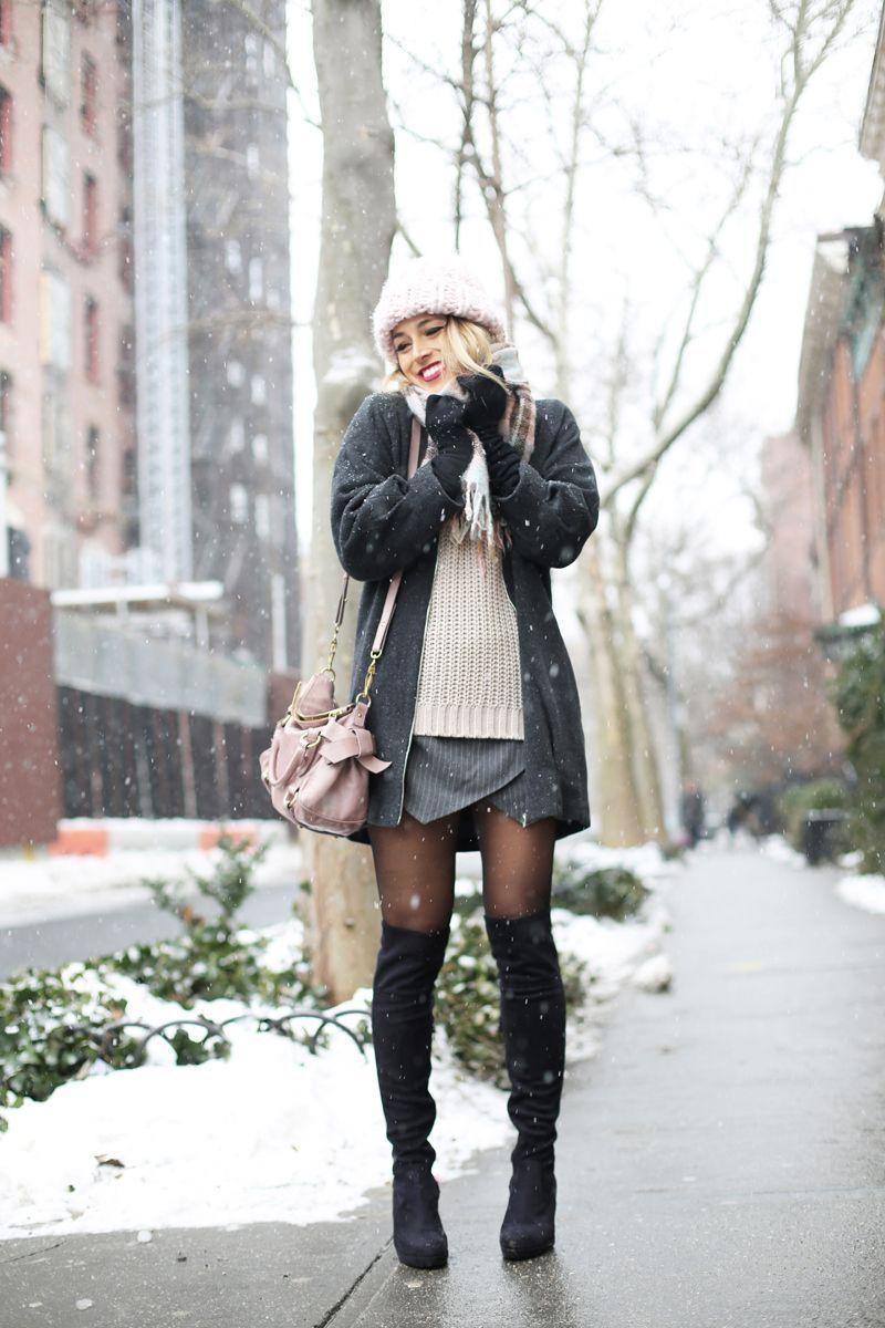 17 Maneras De Vestir Con Una Falda En Invierno Ideas Muy