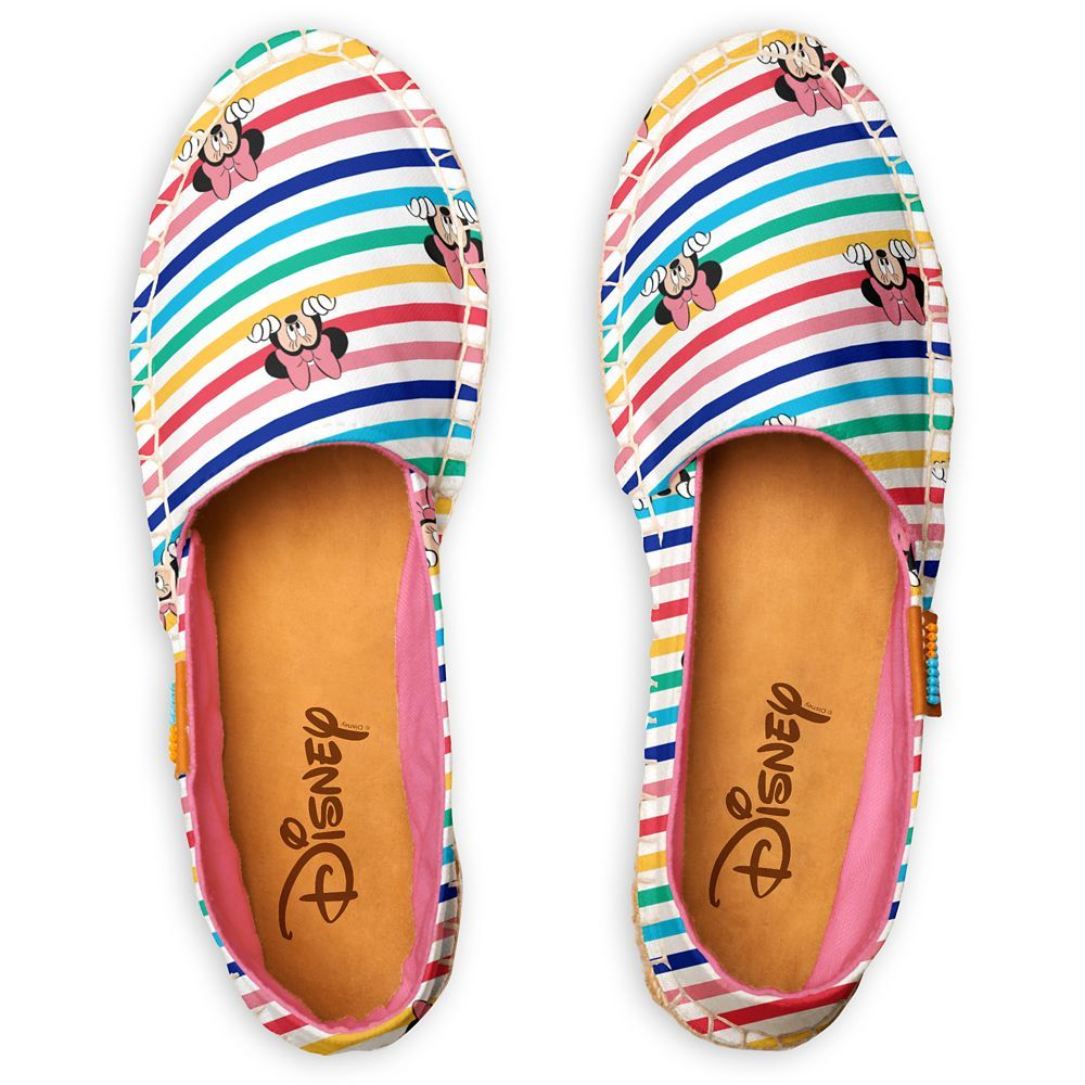 rainbow stripes and Minnie Mouse
