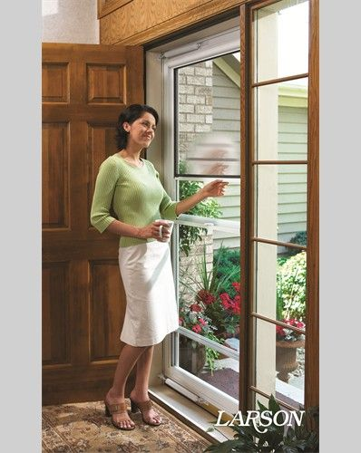 Larson Screen Away Storm Doors Offer A Clear View To The Outside And Are Designed To Increase