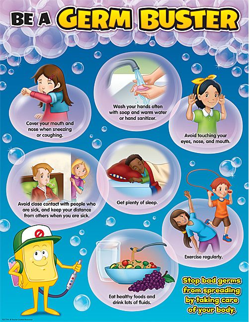 Be A Germ Buster Chart Tcr7744 Products Teacher Created