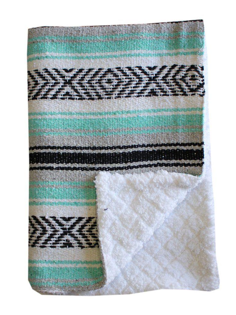 Baja Baby™ Mexican Baby Blanket Sea Foam Dream Mexican