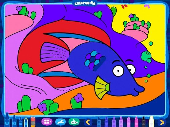 New Free Style Coloring Book App For The Ipad Coloroodle Coloring Book App Coloring Books Coloring Apps