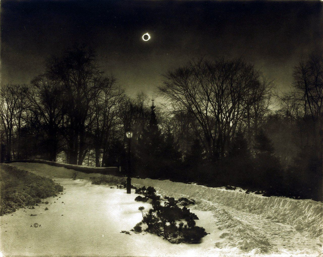 Adolf Fassbender (1884-1980) Sun's Total Eclipse, 1925