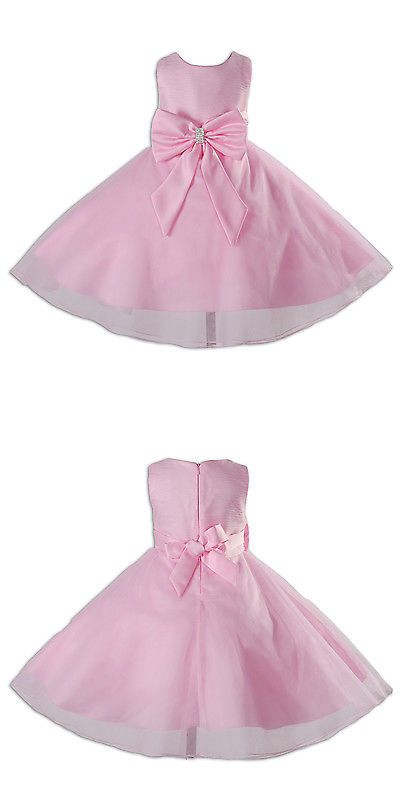 Other Newborn-5T Girls Clothes 147221: New Pink Flower Girl Party ...