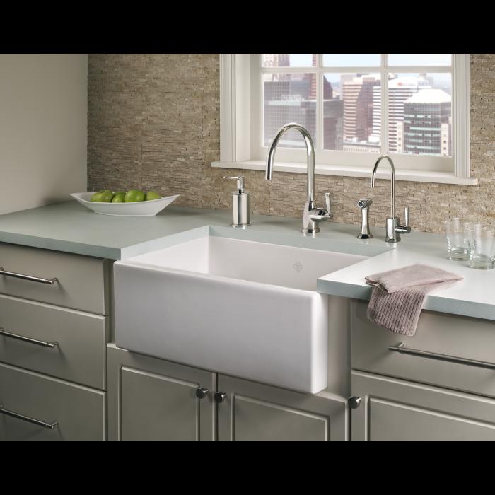 30 Single Bowl Fireclay Apron Kitchen Sink Apron Sink Kitchen Farmhouse Sink Kitchen Design 30 stainless steel farmhouse sink