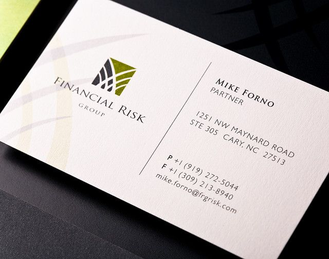 Fa Financial Risk Group Company Business Cards Examples Of Business Cards Business Card Inspiration