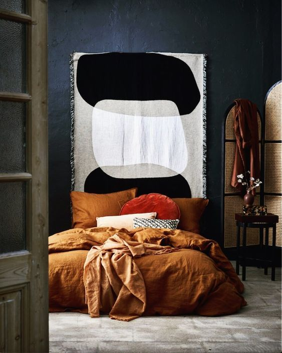 modern orange bedroom design ideas | Three Modern Fall Color Scheme Ideas in 2020 | Bedroom ...