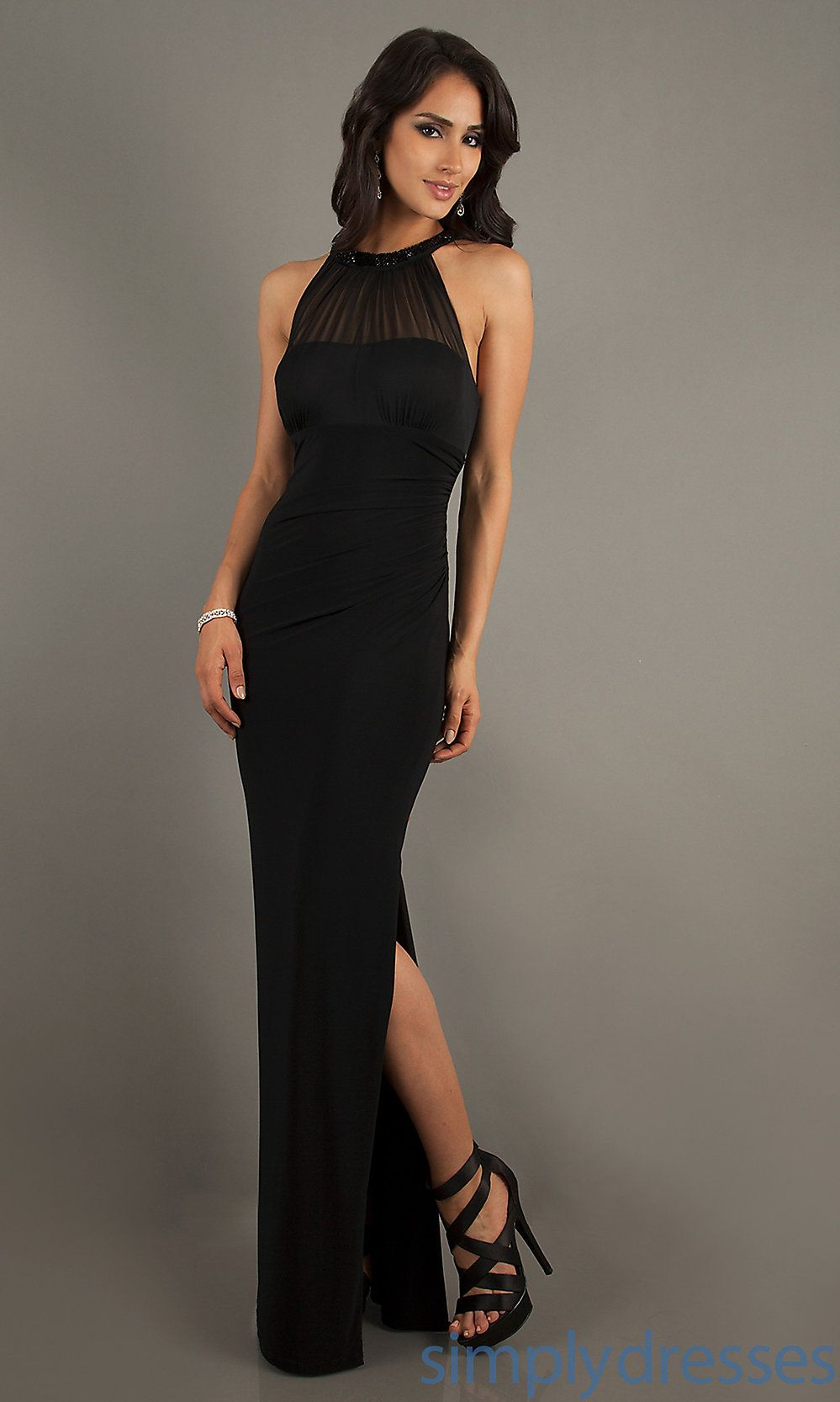 17 Best images about black dress on Pinterest | Halter dresses ...