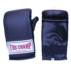 Champ Bag Gloves: Bag Gloves are used to protect the boxer hands. Boxing shoes, handwraps and gauze, mouth guards, etc..are used to protect the boxer to purchase these equipments visit proboxinggear.com