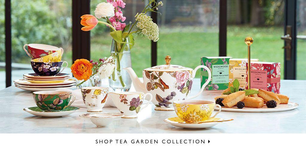 Wedgwood Tea Garden Serving Tray Floral Fine Bone China