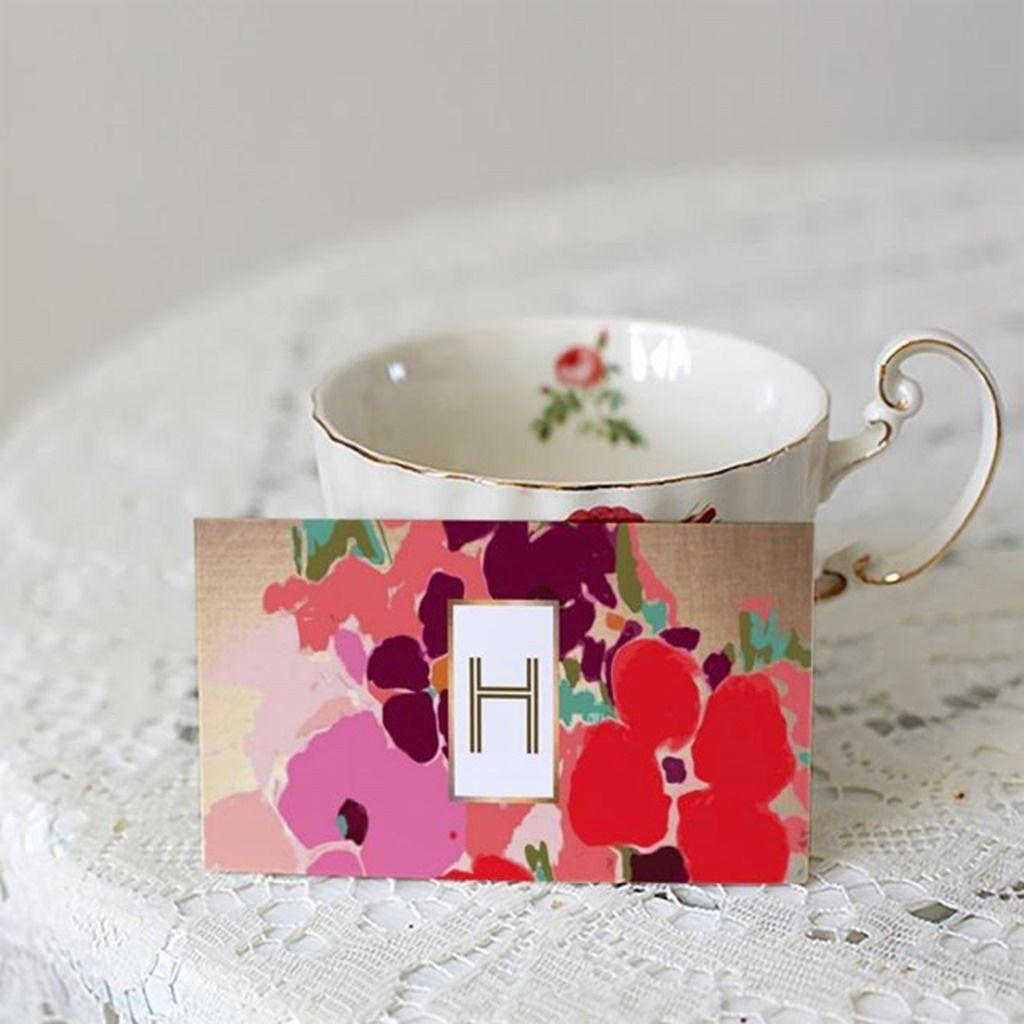 Elegant Gold and Blue Lotus Flower Business Card | Digital ...