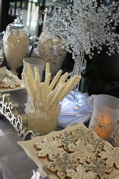 Winter Wonderland Table Decor Christmas Day Decorations