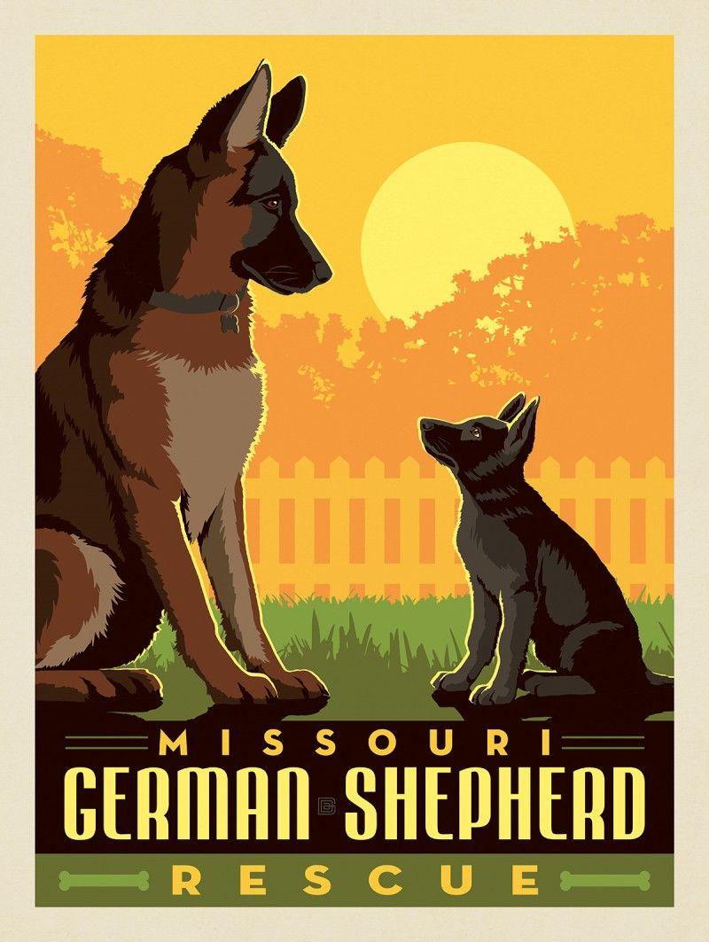 2019 Missouri German Shepherd Rescue Best Buds Anderson Design