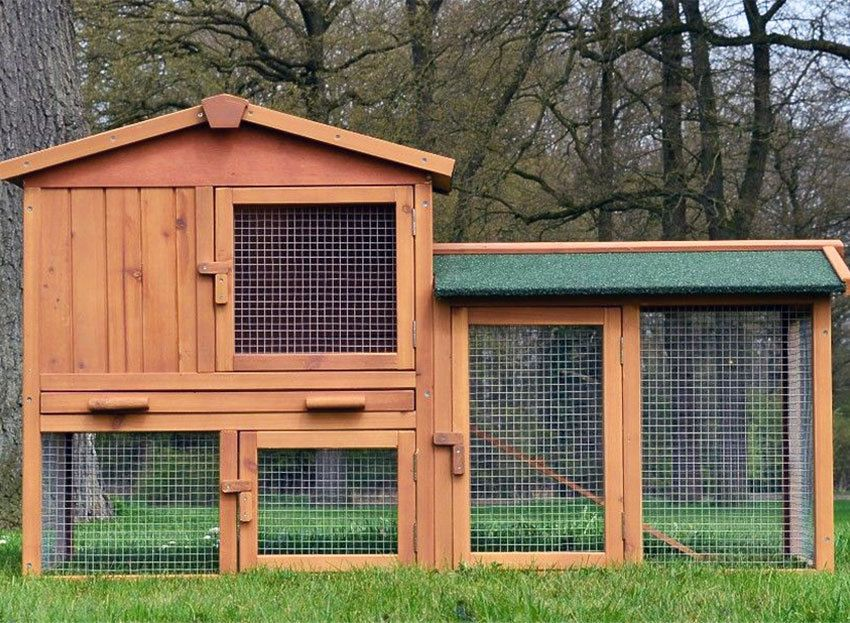 Zooprimus Hasenstall 001 Hasenvilla Kaninchenstall Kaninchenkafig