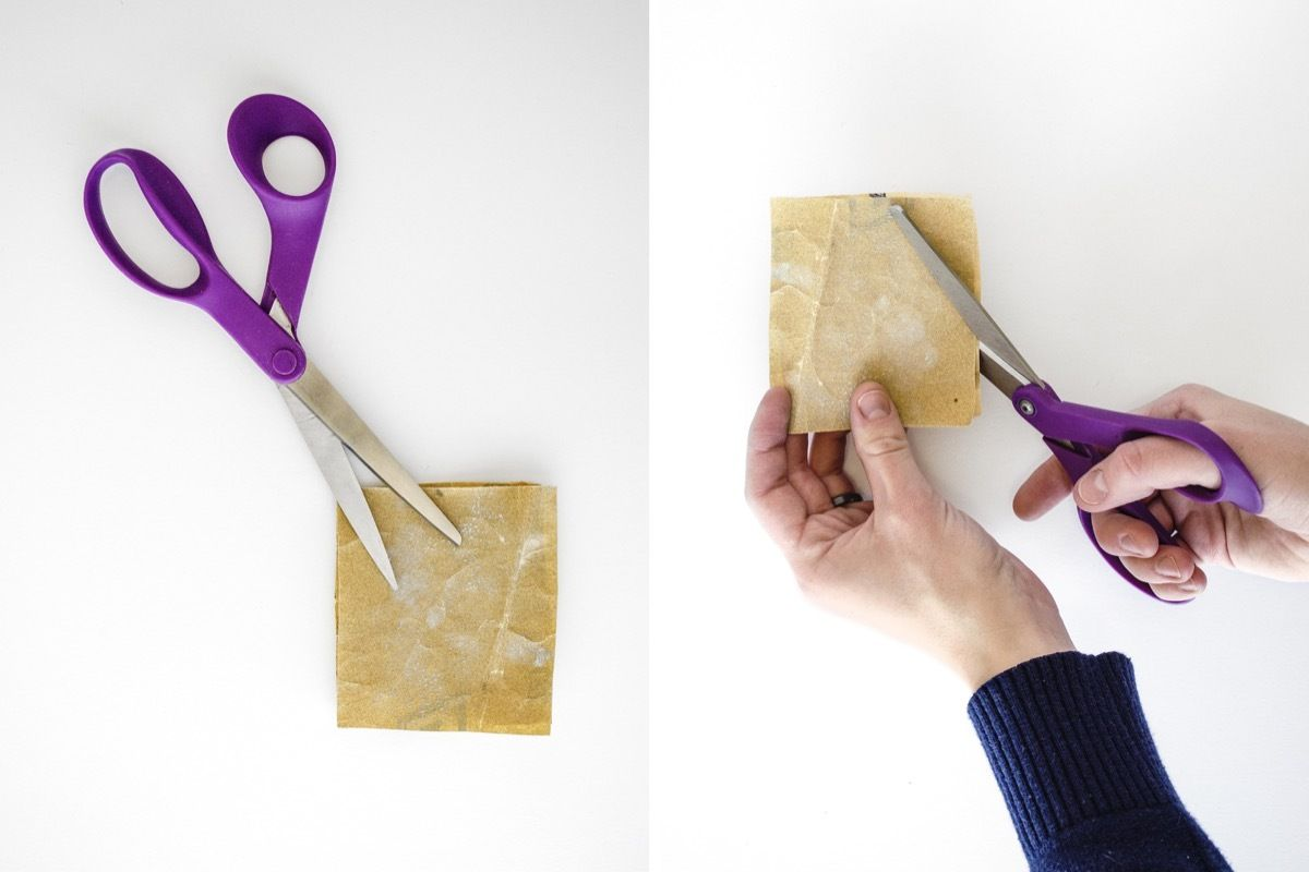 How to sharpen scissors at home: Using sandpaper | Homemade crafts ...