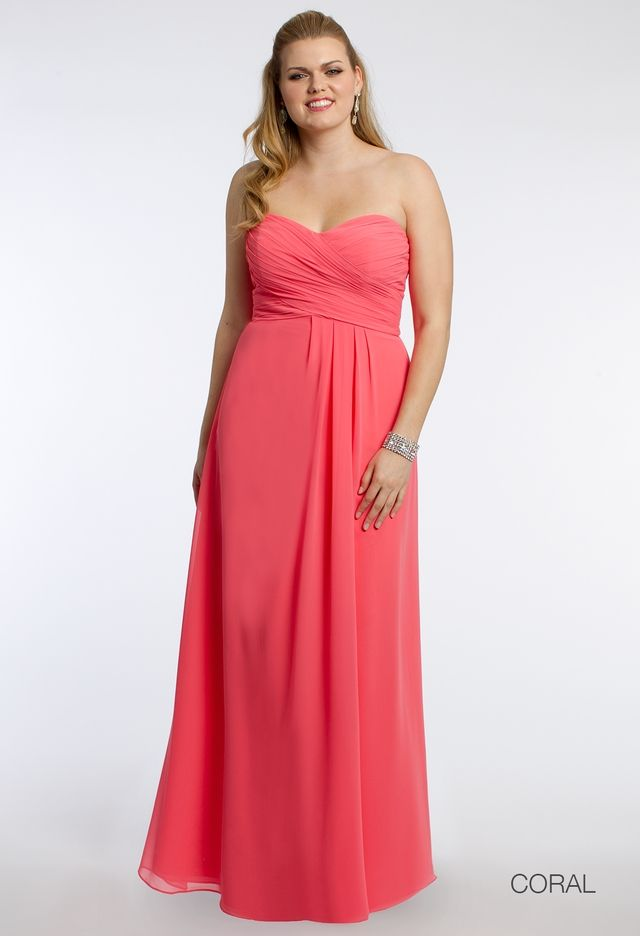 Strapless Crisscross Bodice Dress from Camille La Vie and Group USA ...