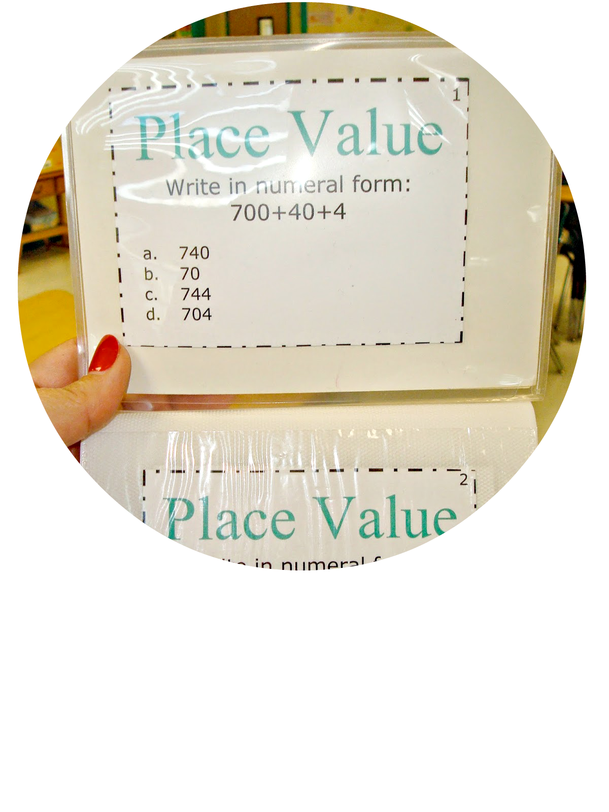 Use dollar store photo albums for task cards. No laminating!  A back to school round up for teachers   #newteachers #backtoschool