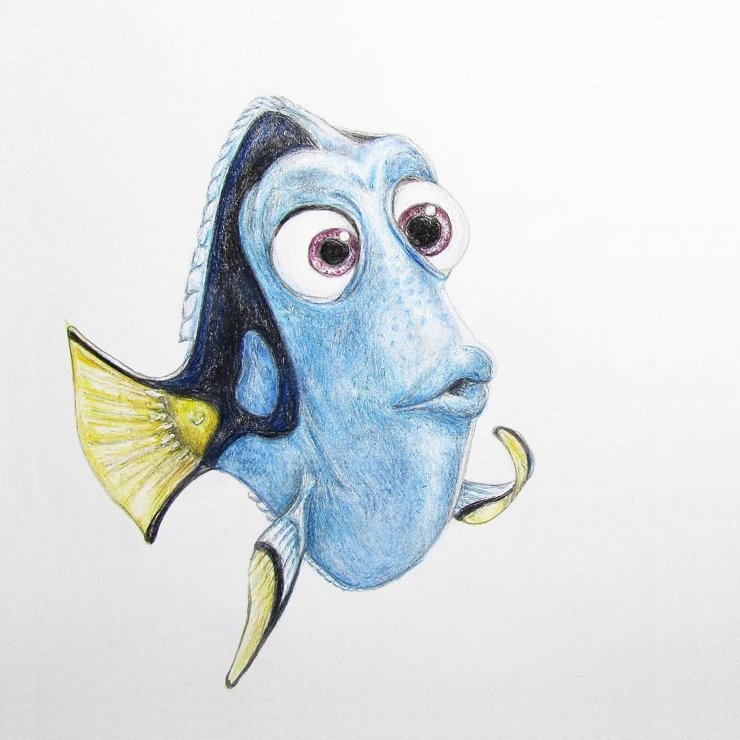 Cartoon fish coloring pages fish pouting fish sleepy cartoon fish - When A Fish Can Pout Better Than You Can Drawing Dory Findingdory