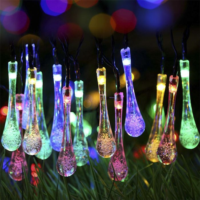 Colorful Solar Powered LED Light String 45 Meter 30 LED 4 Colors