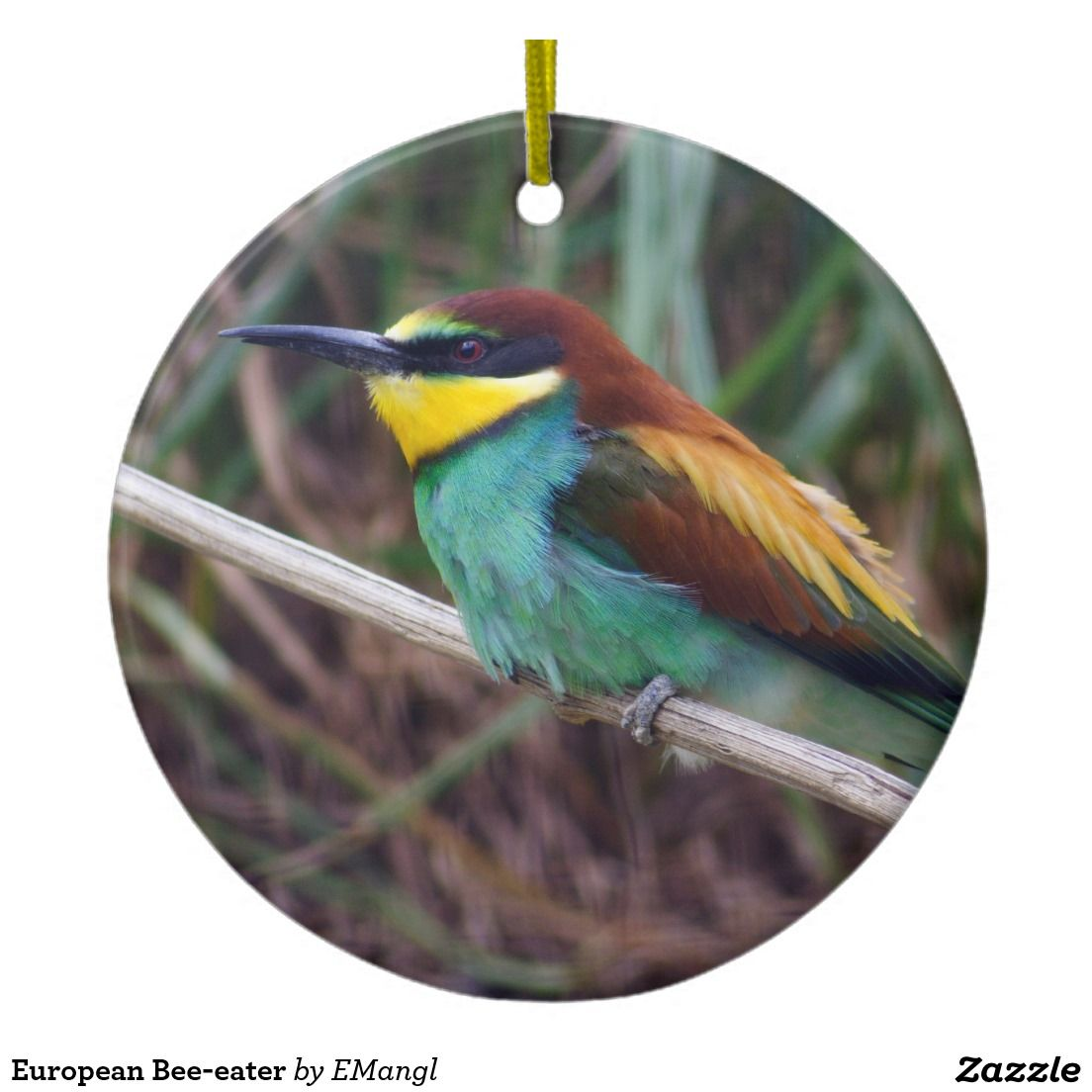 European beeeater ceramic ornament bees and ornament