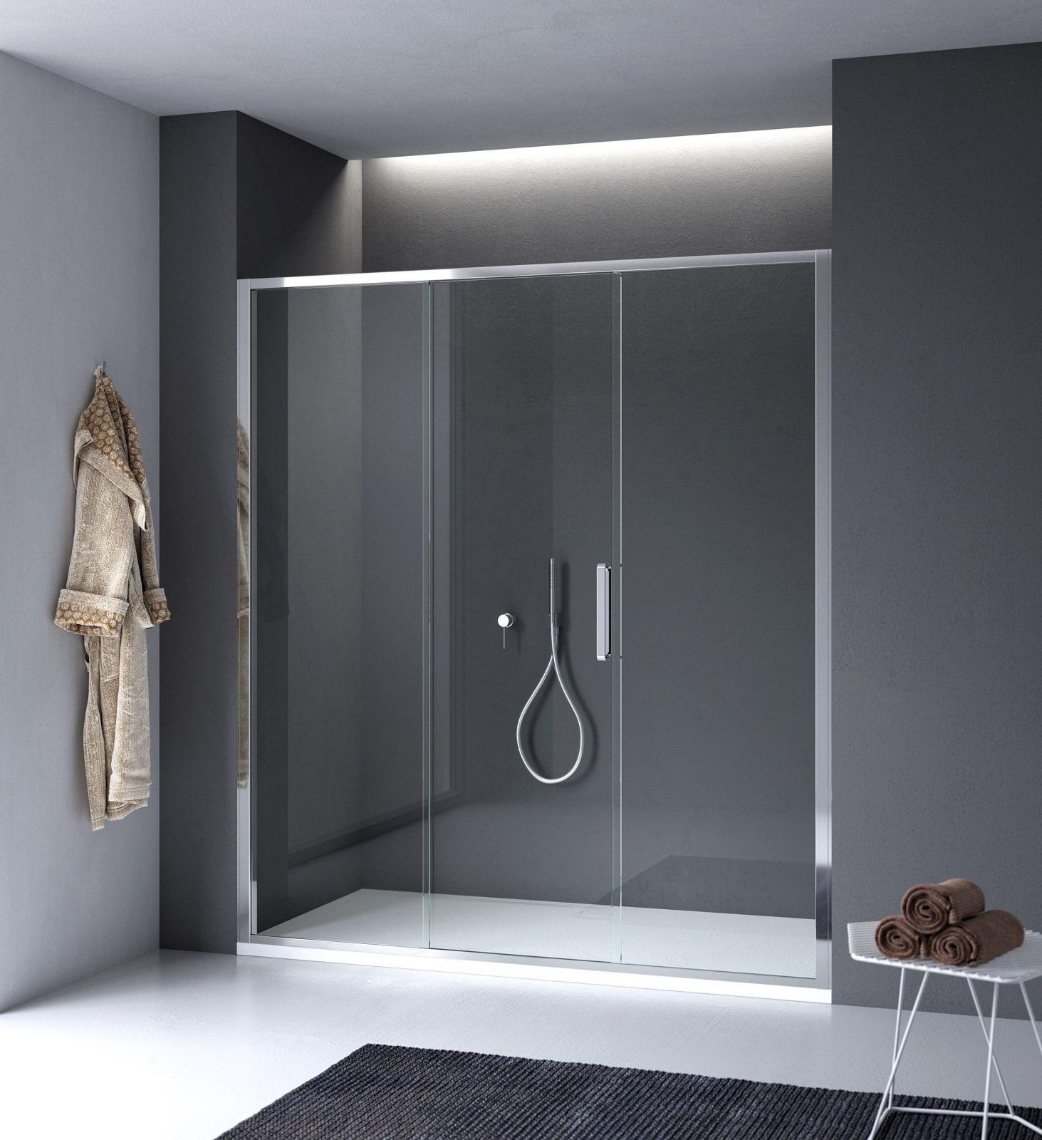 Porta doccia scorrevole centrale in nicchia - Arbatax CALIBE | bagno ...