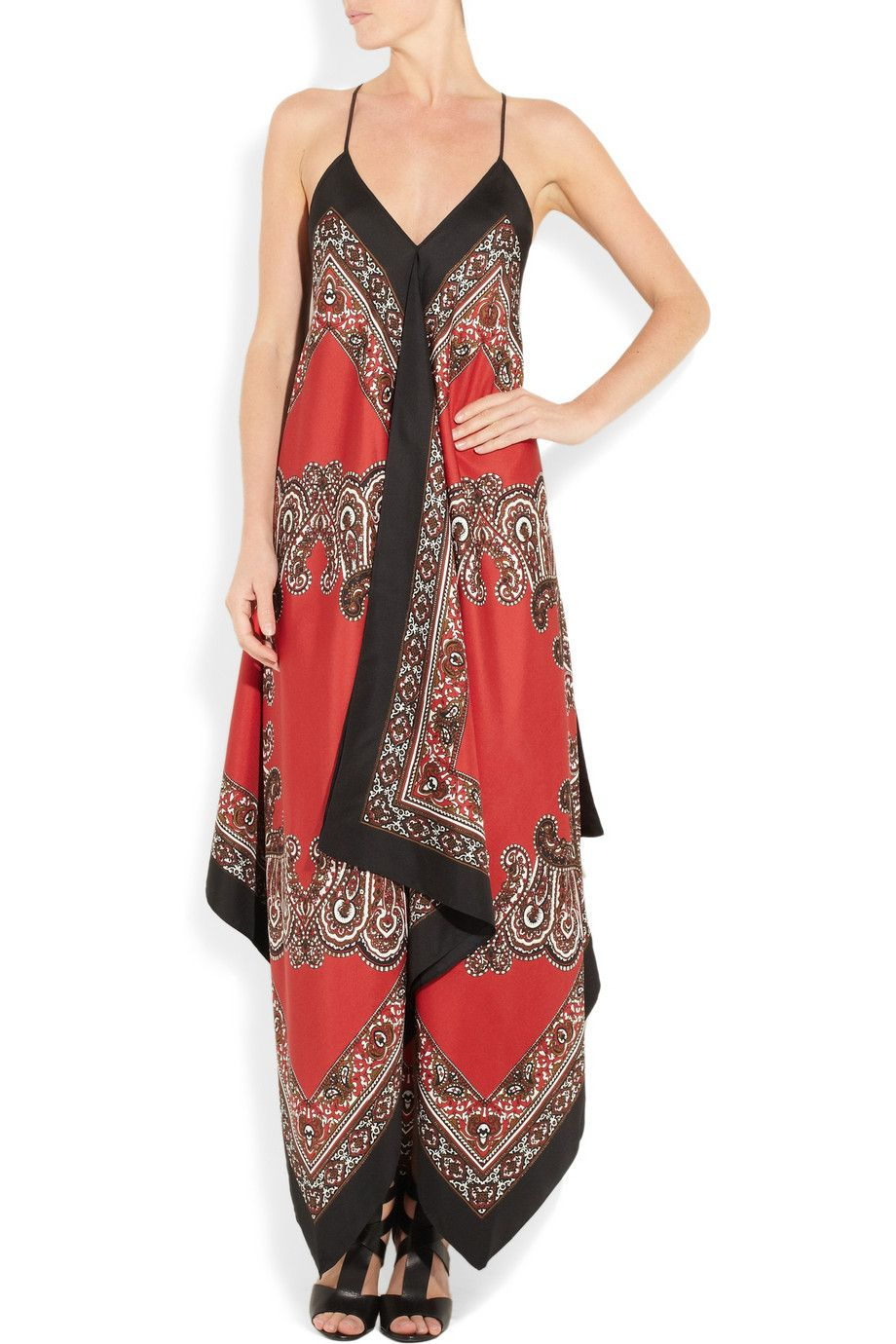 Michael Michael Kors Printed Silk Maxi Dress 350 Net A Porter
