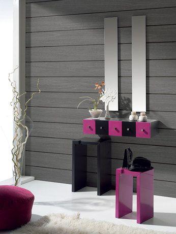meuble d 39 entr e suspendu design 5 tiroirs jane laqu noir. Black Bedroom Furniture Sets. Home Design Ideas