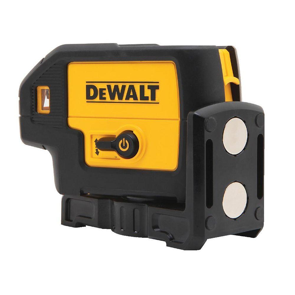 100 Ft Red Self Leveling 5 Spot Laser Level With 4 Aa Batteries Case Pointers Beams Dewalt Laser Level