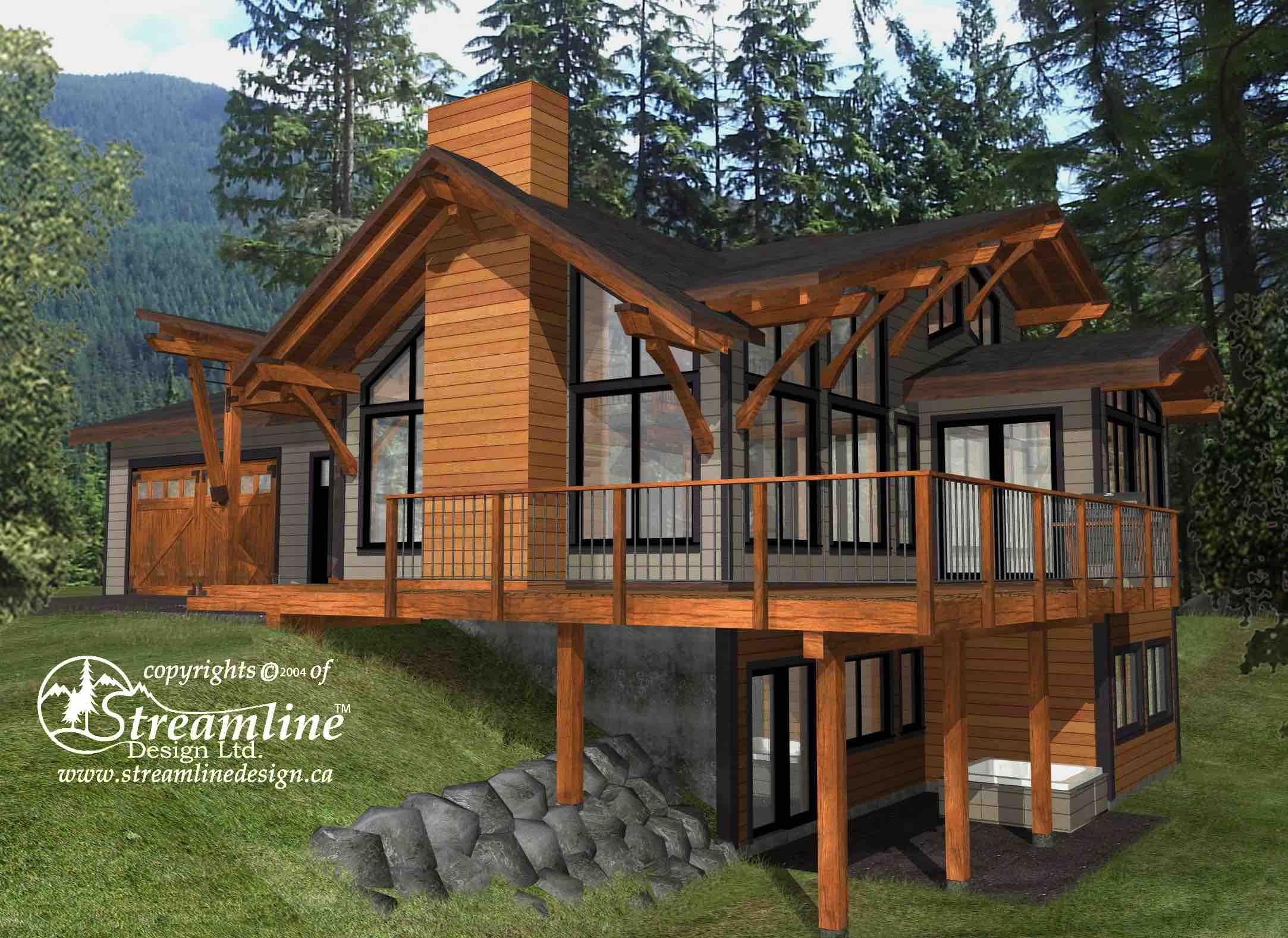 This Elegant Three Story Timber Frame Log Home Is A Great