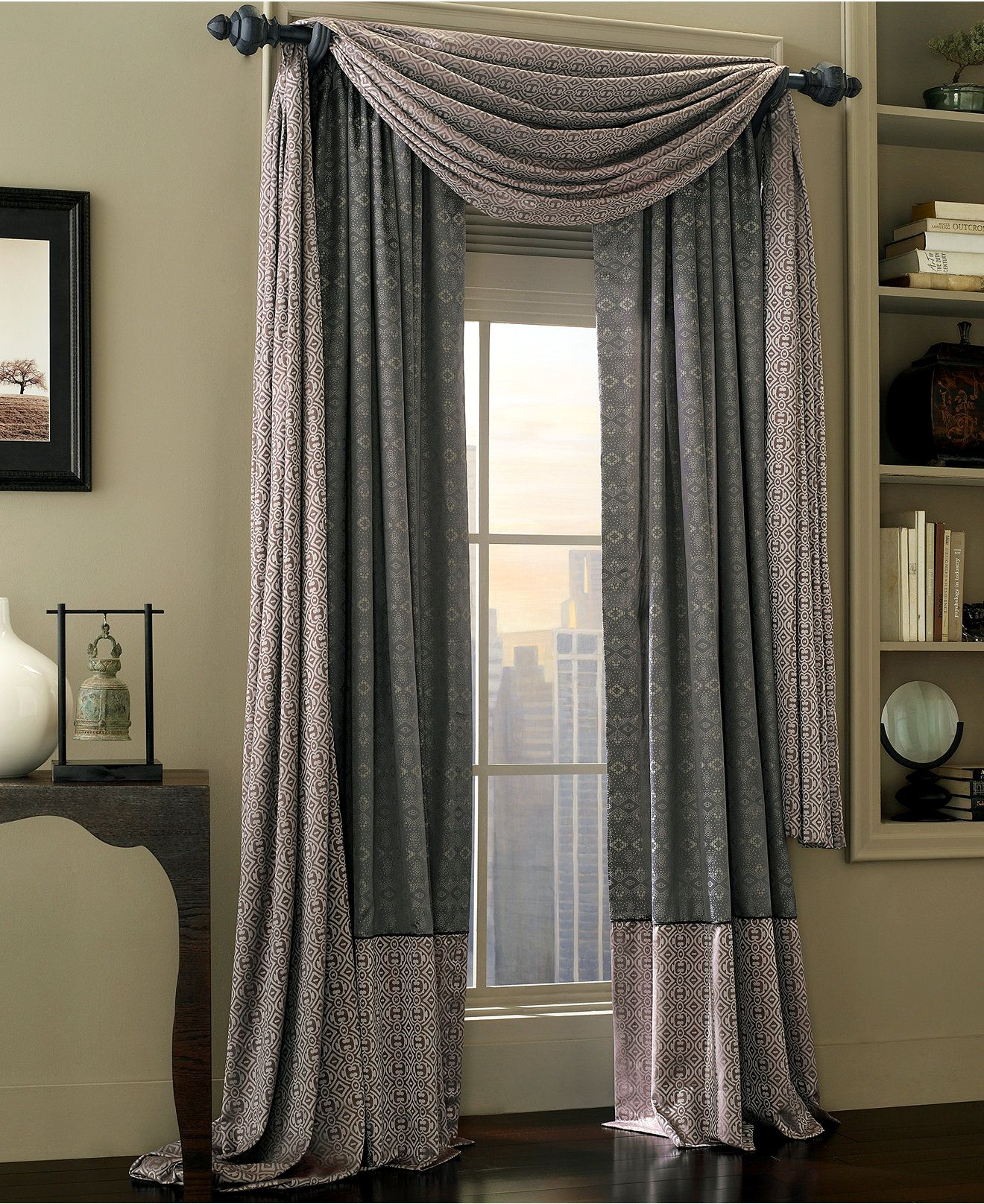 Waterford Alana Scarf Window Valance Bedding Collections Bed