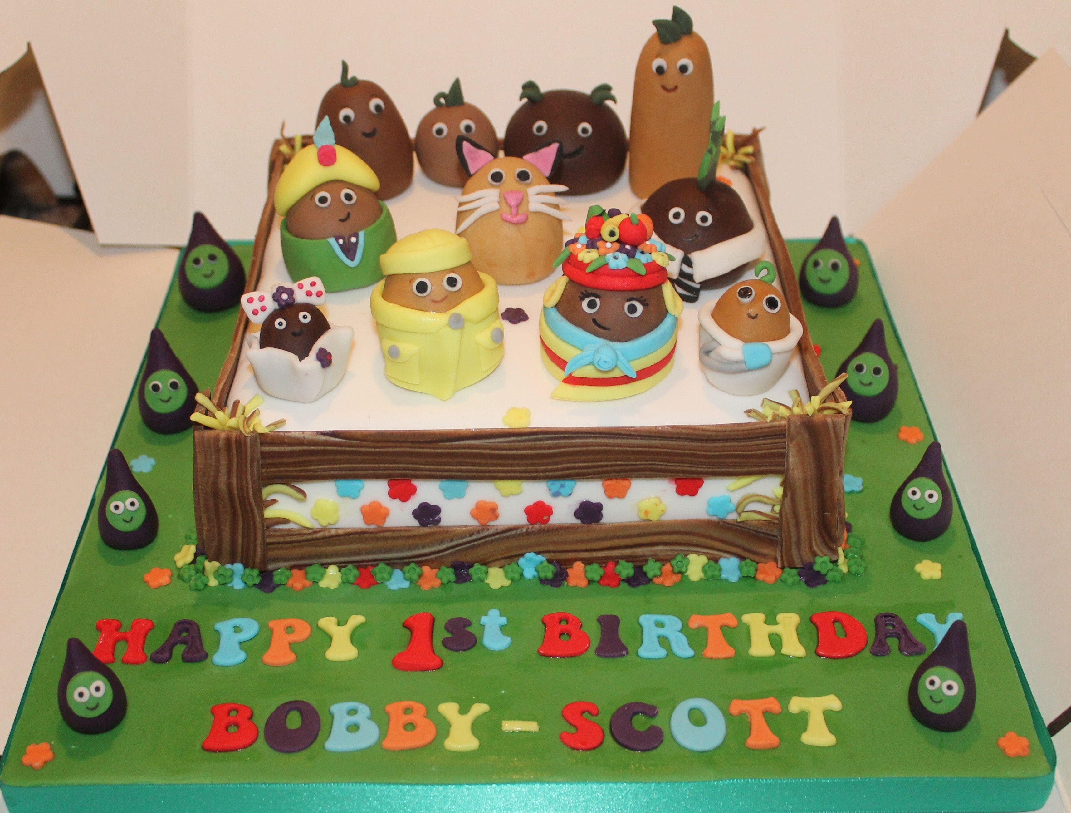 Fine Small Potatoes Cake Childrens Birthday Cakes 3Rd Birthday Cakes Personalised Birthday Cards Veneteletsinfo