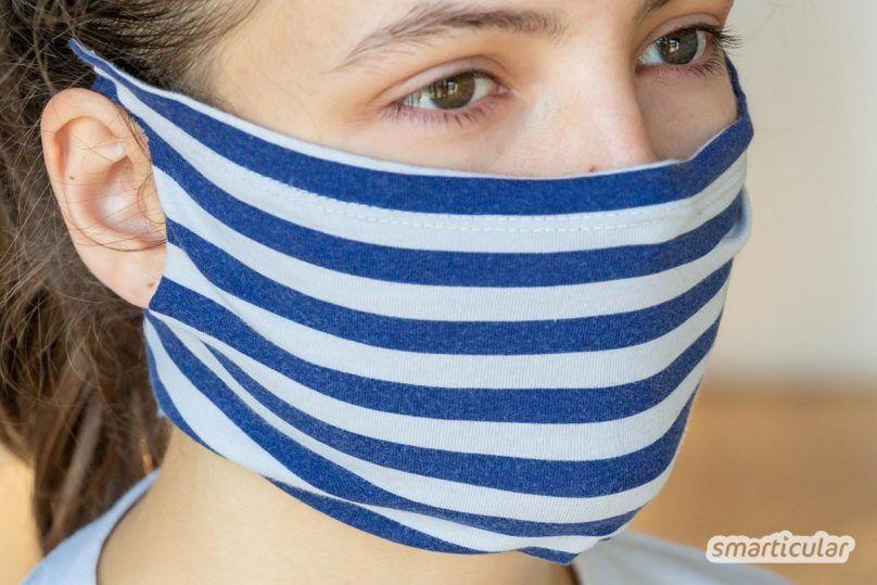 Mundschutz aus T-Shirt upcyceln: ohne Nähen in zwei Minuten fertig