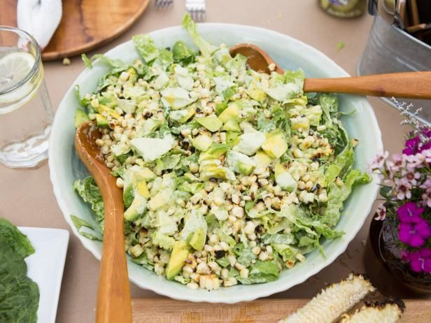 Avocado and Grilled Corn Salad with Green Goddess Dressing