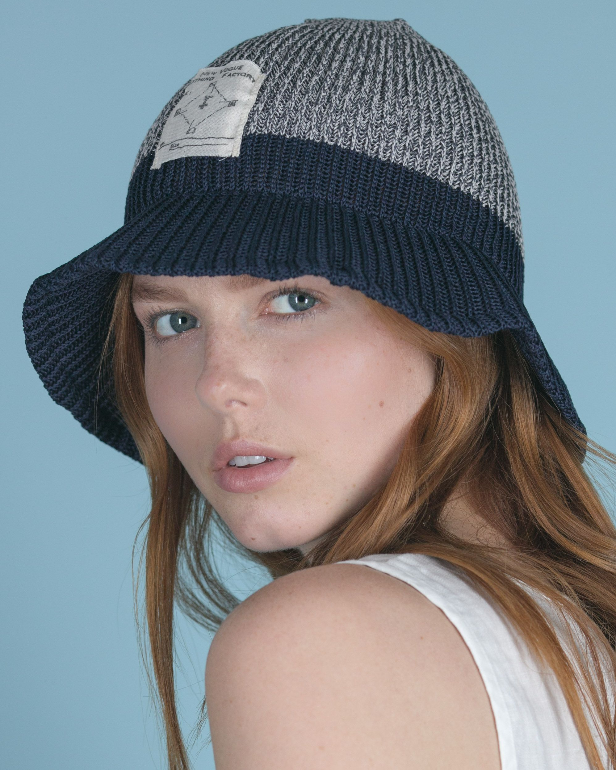 Knit Bucket Hat by Kapital