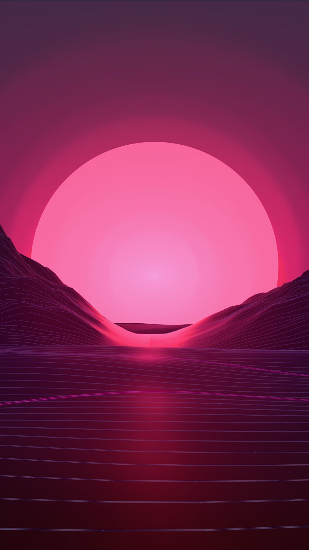 Vaporwave Sunset 1080x1920 Aesthetic Wallpapers Neon Wallpaper Vaporwave Wallpaper
