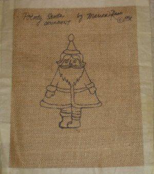 free rug hooking patterns   POINTY SANTA rug hooking pattern -- Woolly Mammoth Woolens