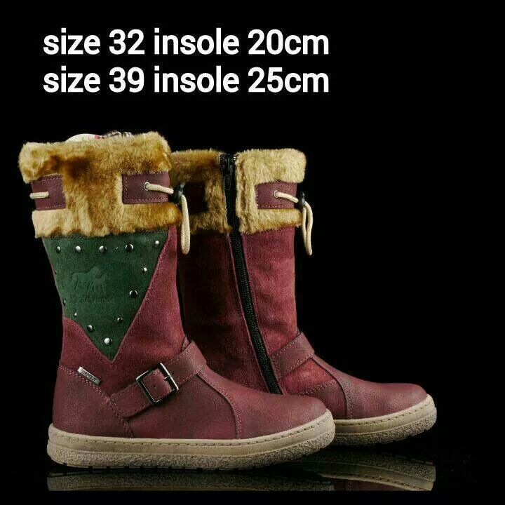 Ready Stock Kids Woman Leather Boots Kode Oklahoma Boots Size 32