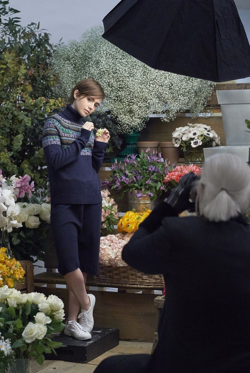 lily collins barrie knitwear fall winter 2015 lily collins