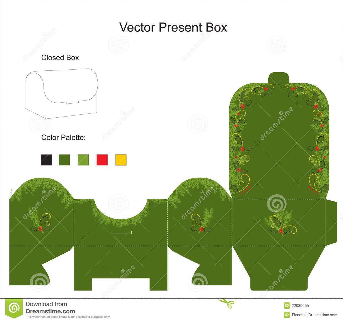 Vector Template For Gift Box - Download From Over 45 Million High ...