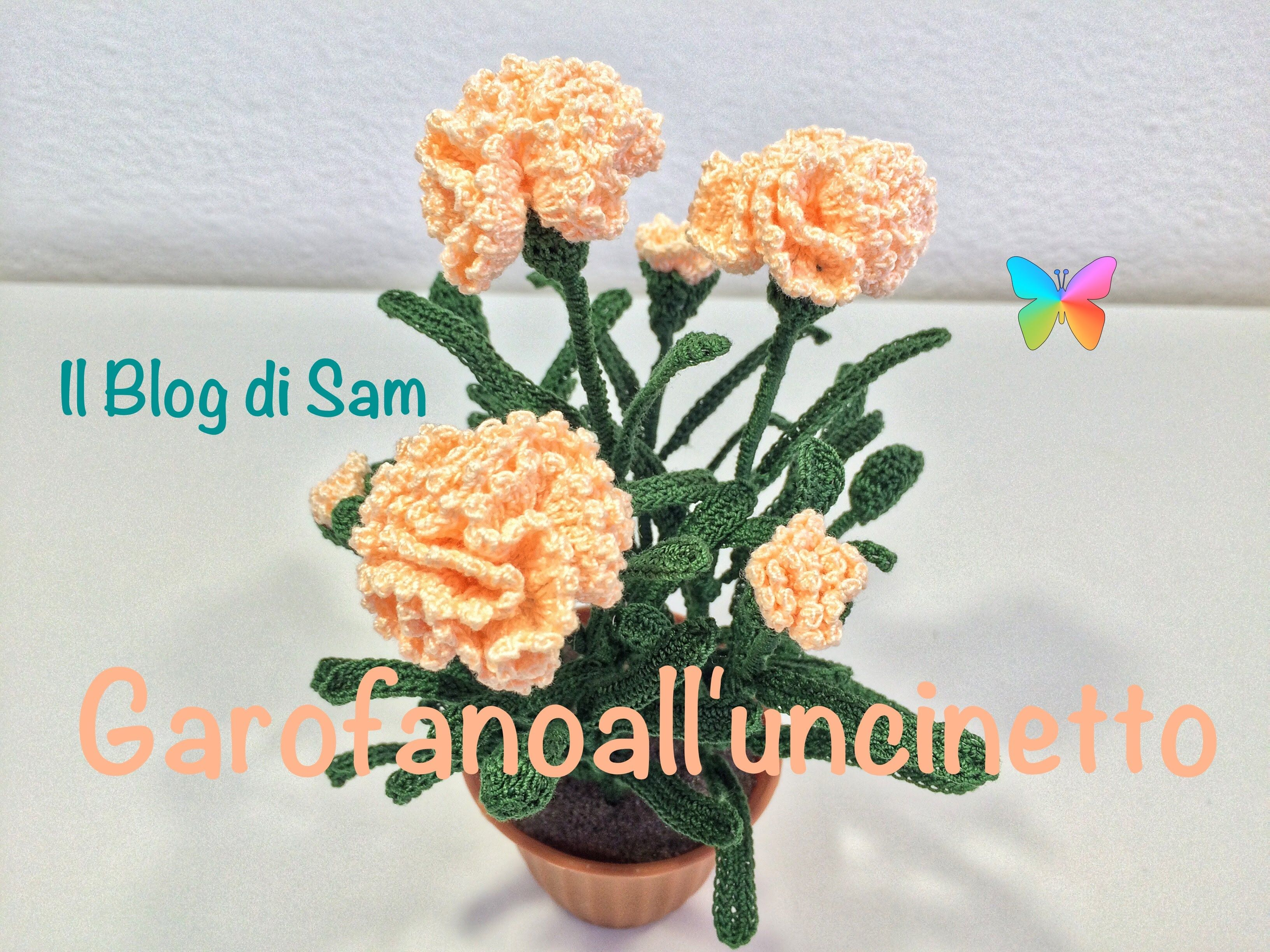 Amigurumilacion : Spiegazione del garofano all'uncinetto horgolt virágok
