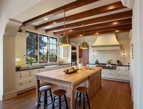 Hope ranch spanish style custom home kitchen mediterranean kitchen santa barbara by allen associates