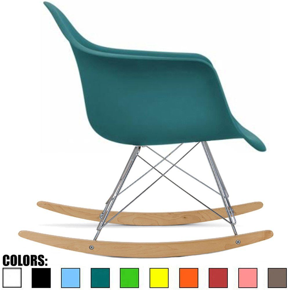 Amazon.com: 2xhome - Blue - Eames Style Molded Modern Plastic ...