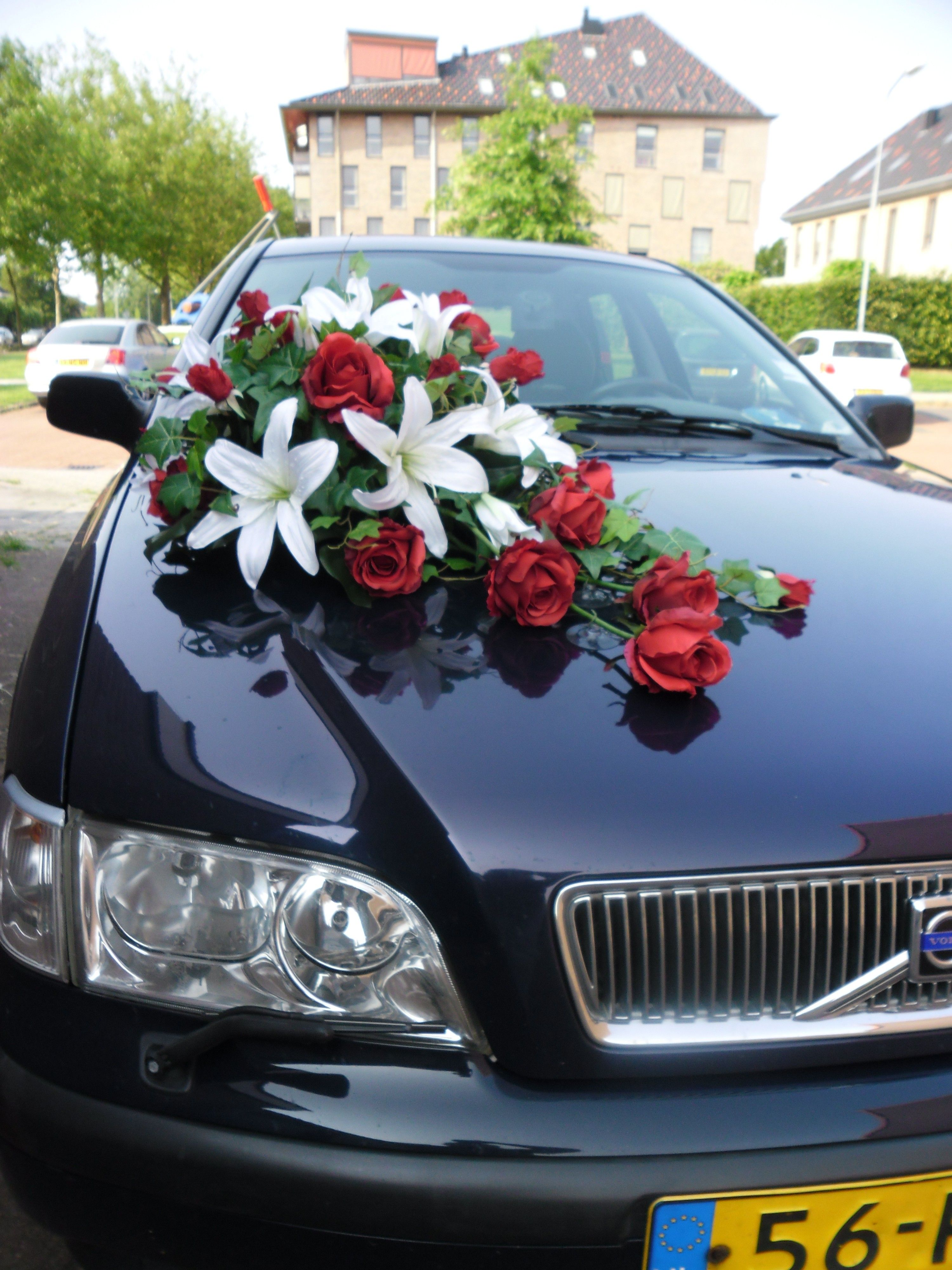 Wedding Car Decorations Of Silk Flowers Made In Our Studio Can