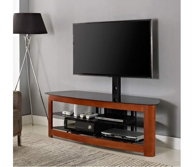60 Cherry Tv Stand Mount This Deluxe Tv Stand With Removable