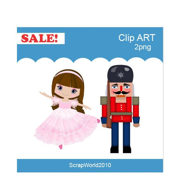 The ballerina and the nutcracker clip art for commercial and ...